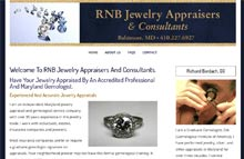 Jewelry website design, Eldersburg