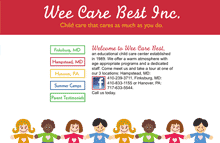 Wee Care Best Day Care Center Website, Finksburg, MD