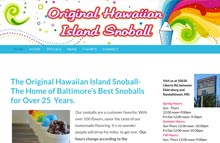Snoball stand web design, Eldersburg, Md