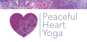 logo design peaceful heart yoga westminster md