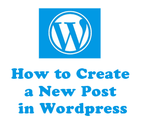 directions create a new post in wordpress website blog