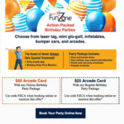 email design for small business birthday party